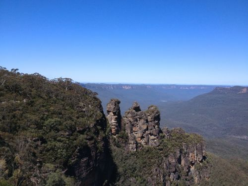 The Three Sisters viewed from Echo Point
